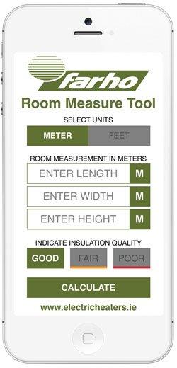 Farho electric heaters room measure tool App image