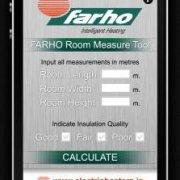 Farho electric heaters room measure tool image