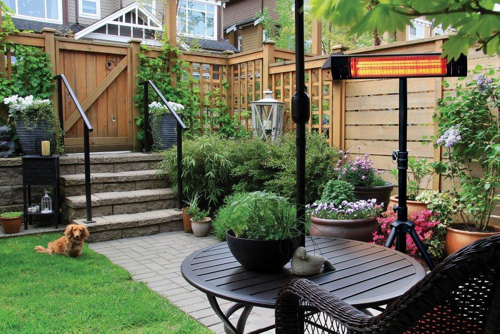 Garden with Patio Heater